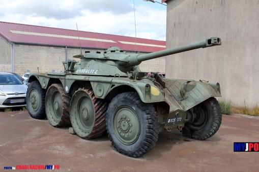 """French Army Panhard EBR-75 (Engin Blindé de Reconnaissance) FL11 Mle 51 """"Austerlitz"""", 1er Régiment de Chasseurs (1er RCh) barracks, Verdun, 06/2014."""