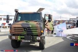 French Army Unimog CCP 3.5 aircraft refueling truck (Avitailleur) of the Service des Essences des Armées (SEA), Paris Air Show, Le Bourget 06/2011.