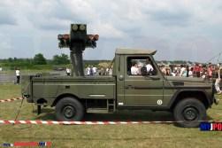 The French Armée de l'Air Peugeot P4 with ASPIC Mistral missile system, BA118, Mont-de-Marsan, 06/2007.