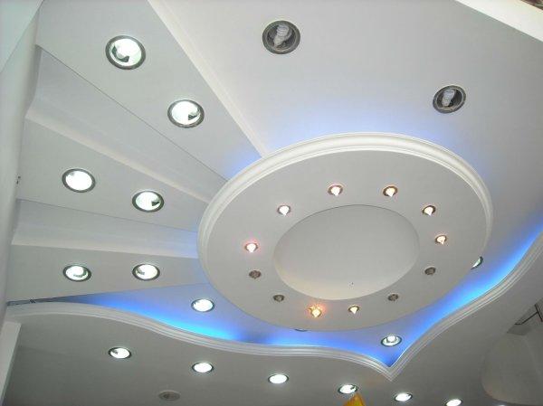 Дизайн ярусных потолков из гипсокартона (48 фото)