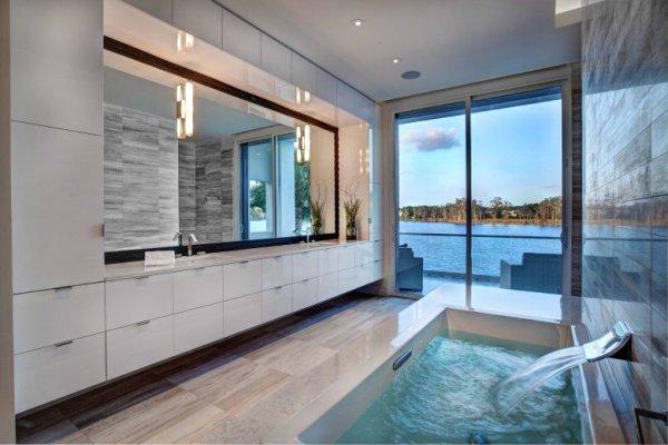 Дизайн больших ванных комнат (48 фото)