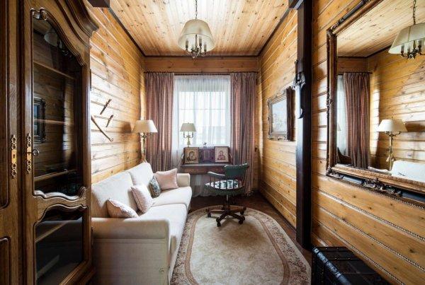 Дизайн комнат обшитых вагонкой (67 фото)