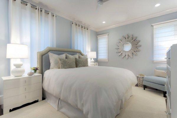 Светлые тона в дизайне спальных (57 фото)