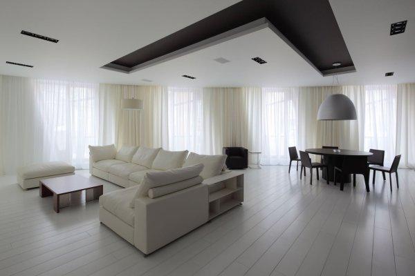 Дизайн натяжных потолков в интерьерах (40 фото)