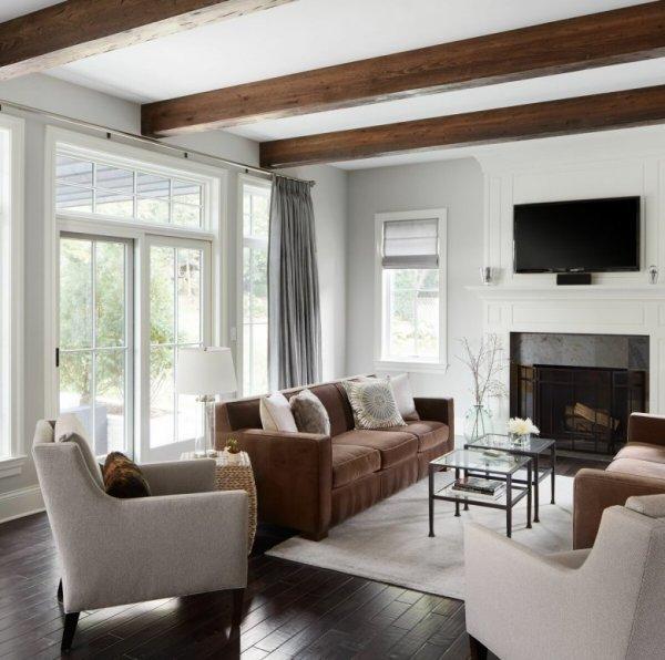 Дизайн деревянных потолков с балками (62 фото)