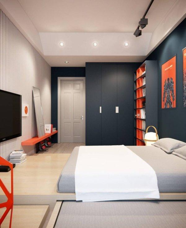 Дизайн комнат для молодых парней (43 фото)
