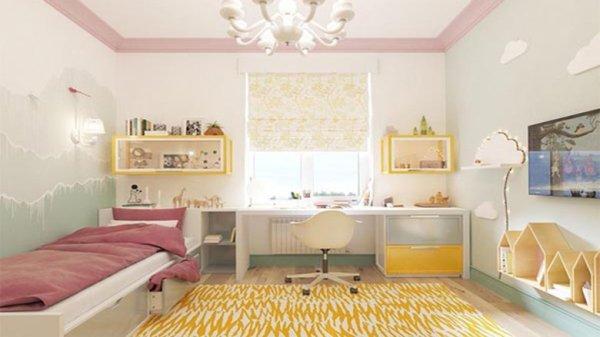 Детские квадратные комнаты (54 фото)