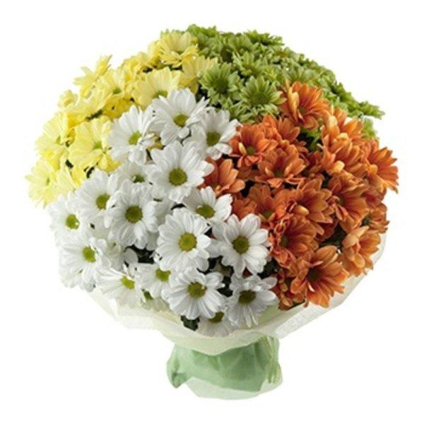 Красивые букеты цветов из хризантем (67 фото)