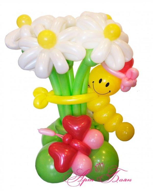 Букеты из шаров на день рождения (46 фото)