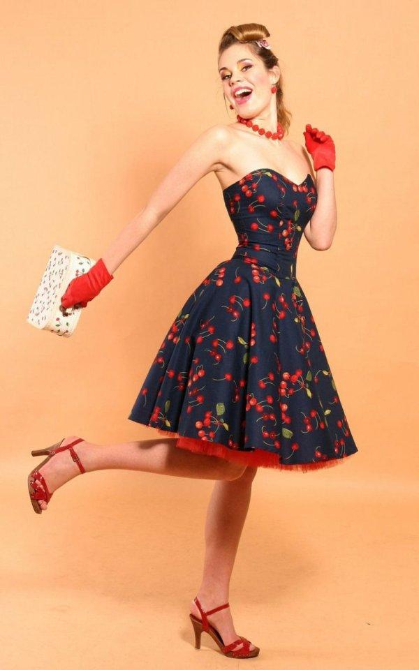 Платья в стиле 60 х годов (40 фото)