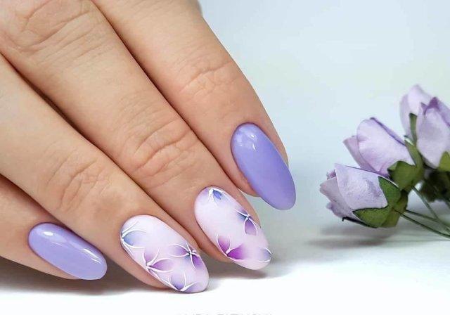 Волшебный маникюр в лавандовом цвете: 37 очаровательных идей для настроения - 14