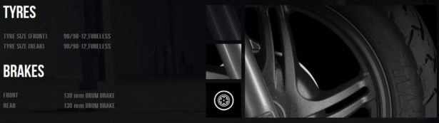 TVS Jupiter Tyres Breaks