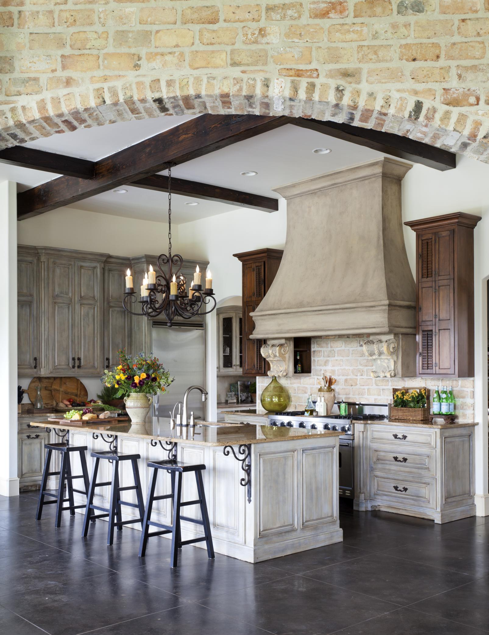 Cozy French Country Kitchen Designs For The Ones That Love ... on Rustic:1Gdhjdx6F3G= Farmhouse Kitchen  id=94266