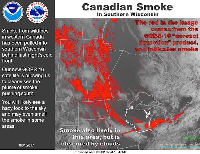 Northern wildfires blamed for smoke, haze over Upper Midwest