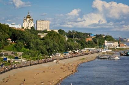 Vista de la playa del río - View of the river beach