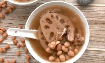 花生莲藕排骨汤 – 煲汤补一补