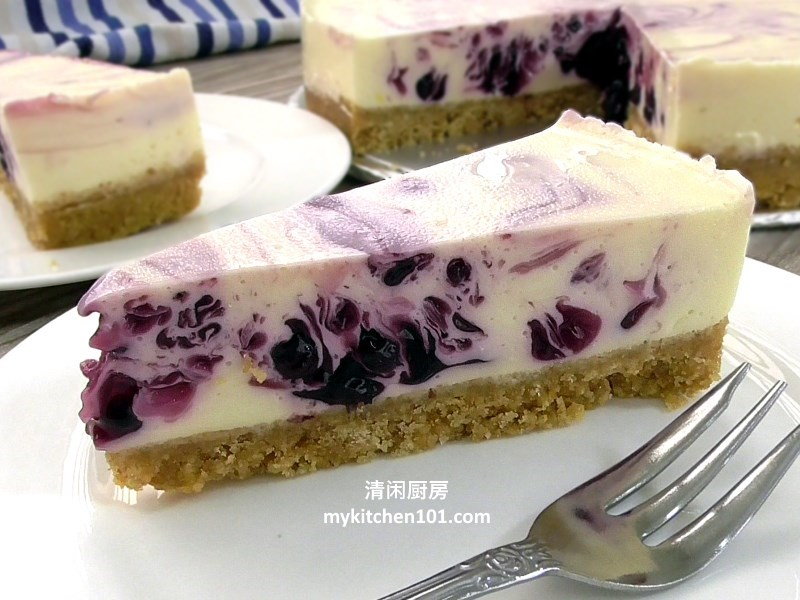 no-bake-blueberry-lemon-cheesecake-mykitchen101-feature