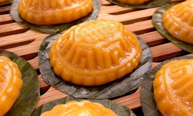 橙薯红龟糕 (花生馅)