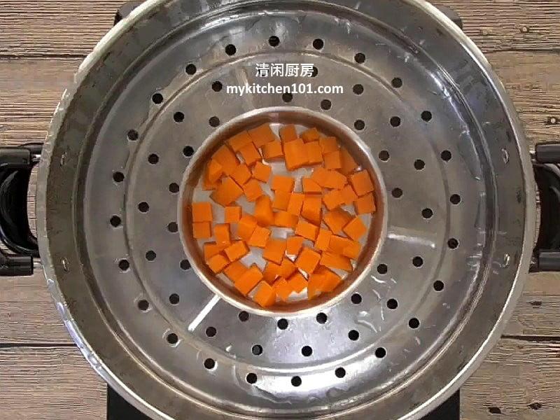 橙番薯外皮粉团