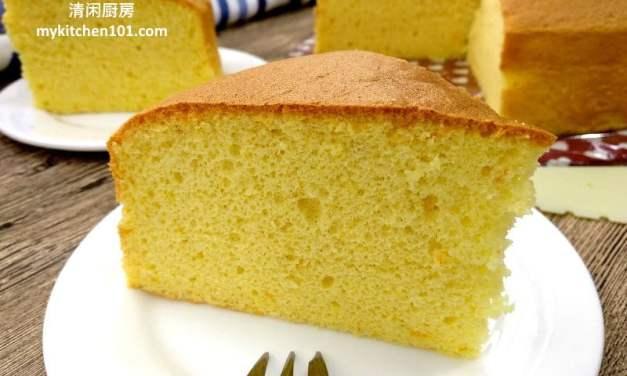 香橙海绵蛋糕