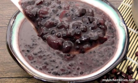 Red Bean Black Glutinous Rice with Coconut Milk Dessert
