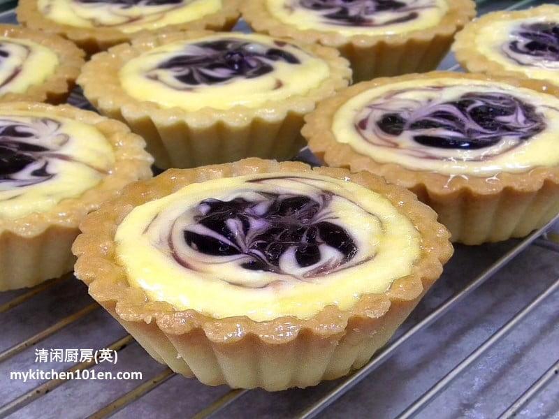 Blueberry Cheese Tart | MyKitchen101en.com
