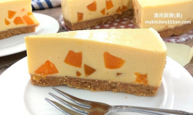 No-Bake Mango Peach Cheesecake