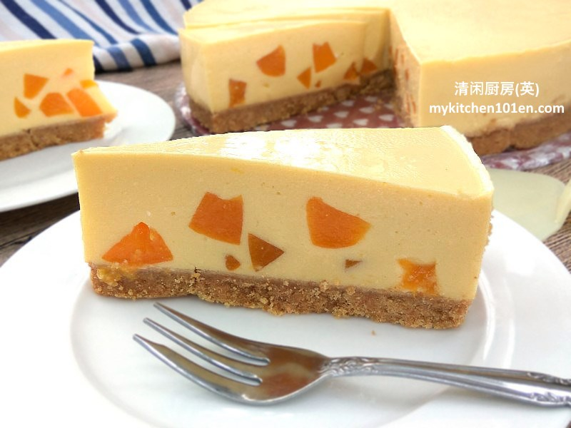 No Bake Mango Peach Cheesecake Mykitchen101en Com