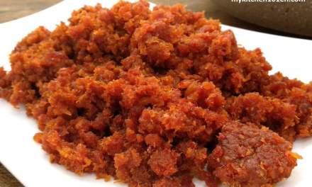 Sambal Hebi (Sambal Dried Shrimp)