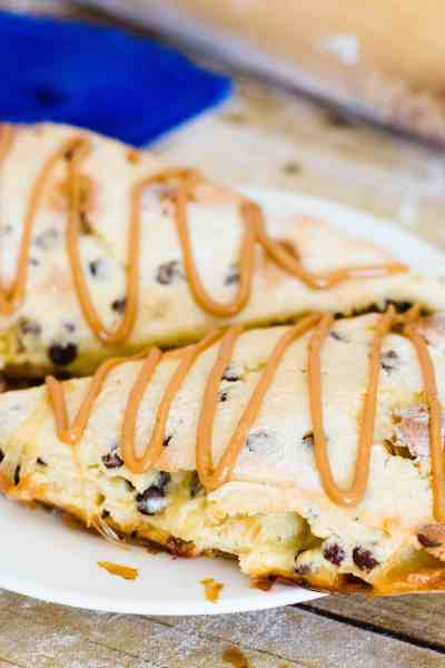 Chocolate Chip Caramel Scones