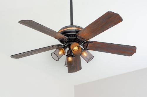 Upcycled Ceiling Fan with light kit