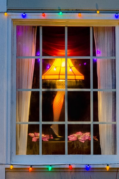 A Christmas Story Leg Lamp Window