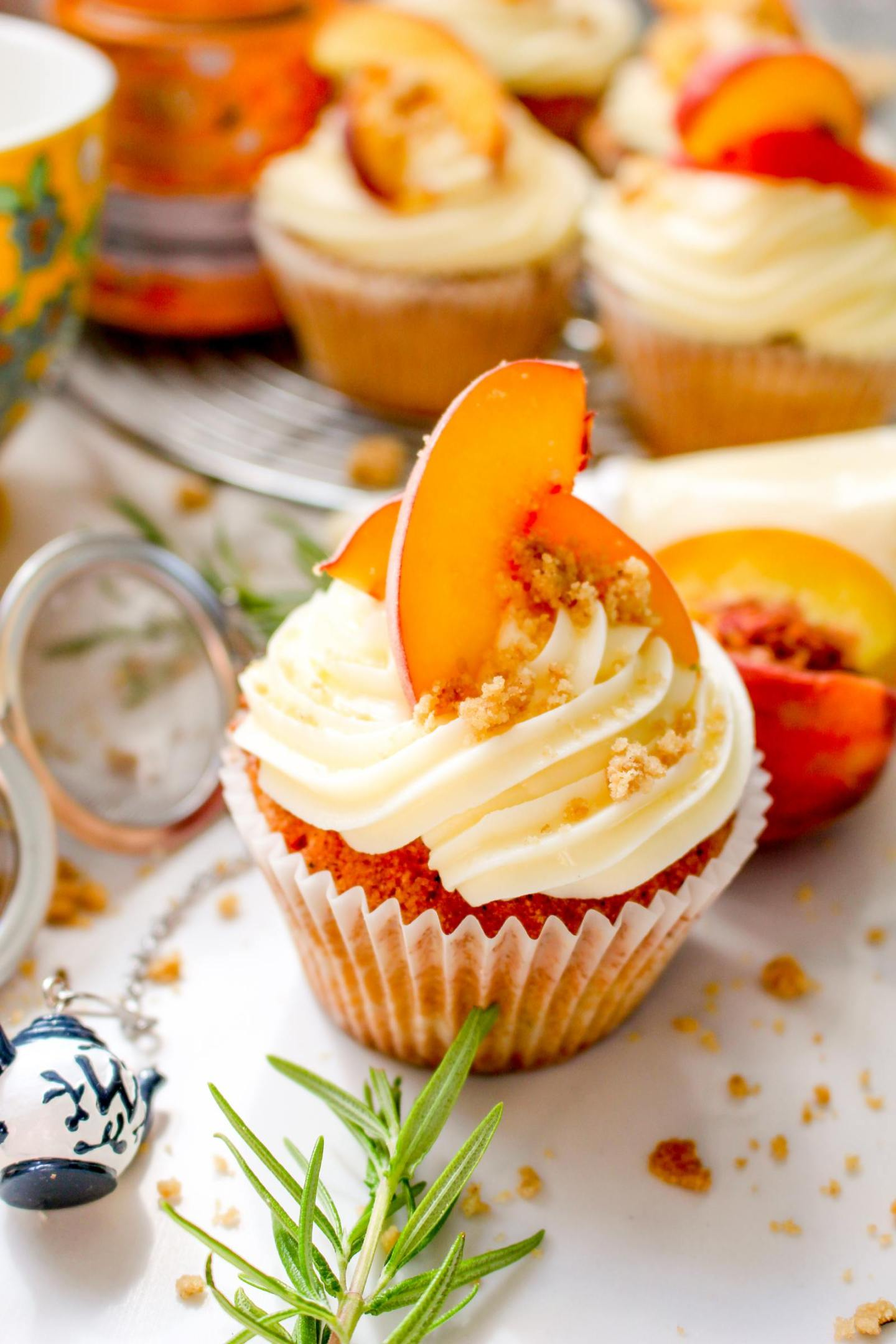 Peaches And Cream Cupcakes My Kitchen Drawer