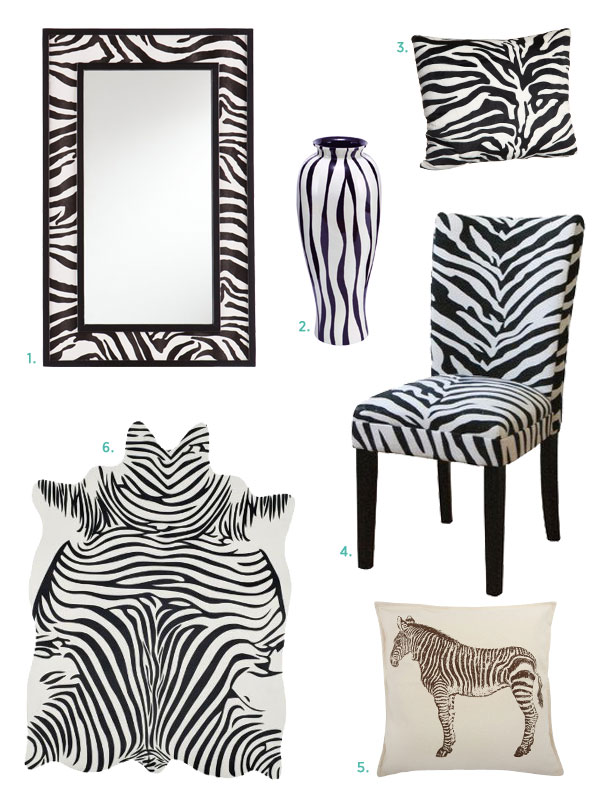 Zebra Wall Stickers And Decals To Decorate A Print