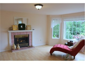 Cozy up to 1 of the 2 gas fire place