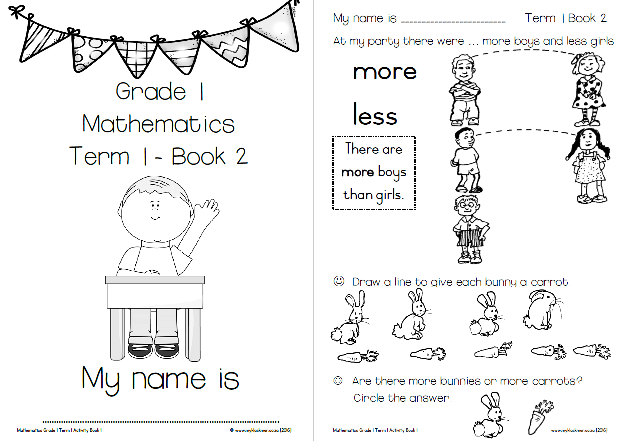 Activity Book Mathematics Grade1 Term 1 My Klaskamer
