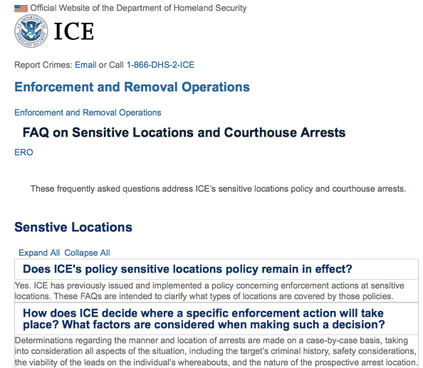 ICE courthouse arrests generic