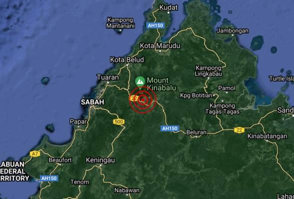 Gempa bumi lemah di Kundasang, Sabah