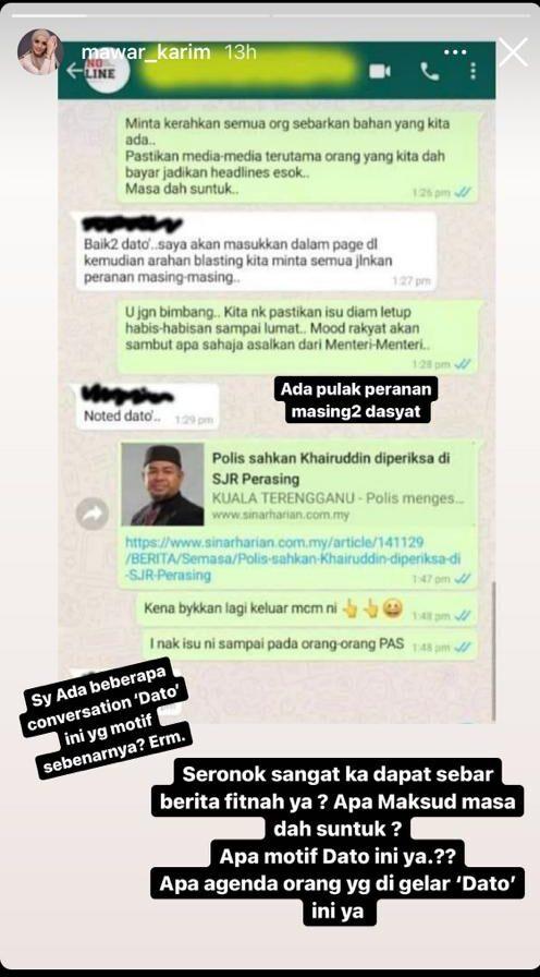 Mawar Karim dedah WhatsApp - Panas Giler
