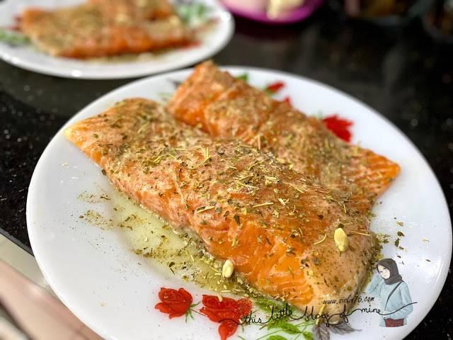 Resepi Salmon Grill Lemon Butter Sauce 01