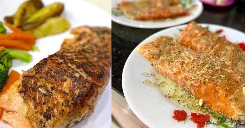 Resepi Salmon Grill Lemon Butter Sauce
