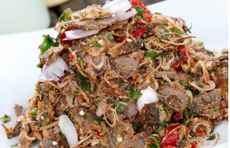 Resepi kerabu daging mudah dan buka selera