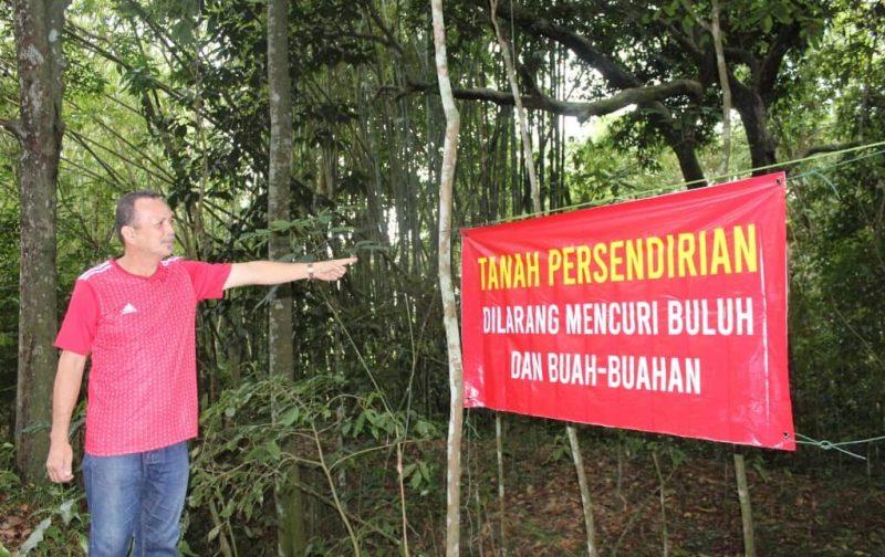 Gantung banner elak buluh dikebas kerana raya