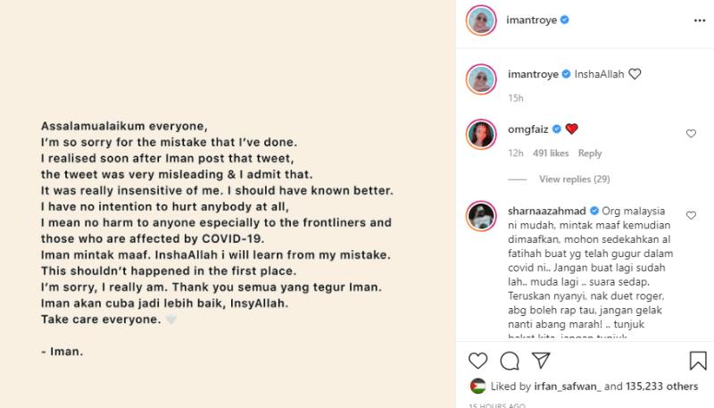 Iman Troye Mengaku Salah, Mohon Maaf