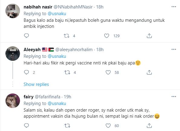 Baju Kurung 'Mesra Vaksin' Laku Keras Di Twitter