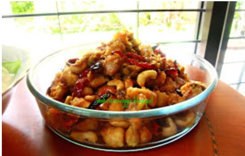 Resepi Ayam Masak Gajus Juicy