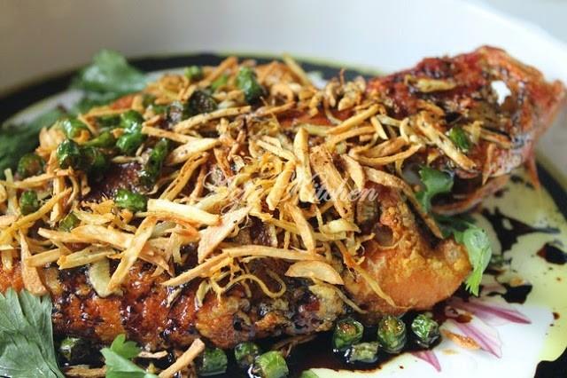 Resepi Ikan Kerapu Bara Goreng Halia dan Bawang Putih