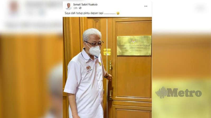 'Saya nak balik, tutup la pintu' - Ismail Sabri