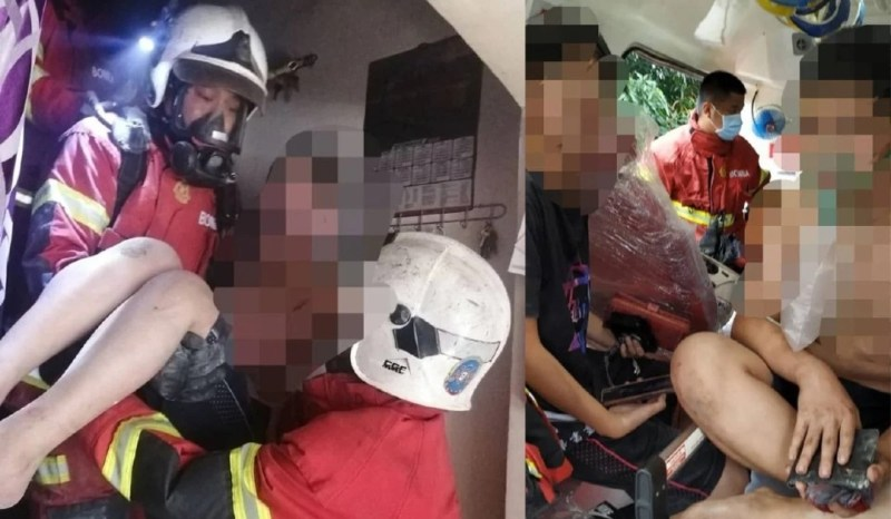 Abam bomba selamatkan tiga beranak dalam kebakaran