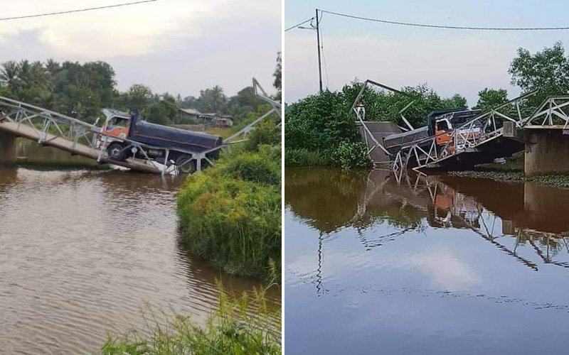 Jambatan runtuh angkara pemandu lori elak SJR